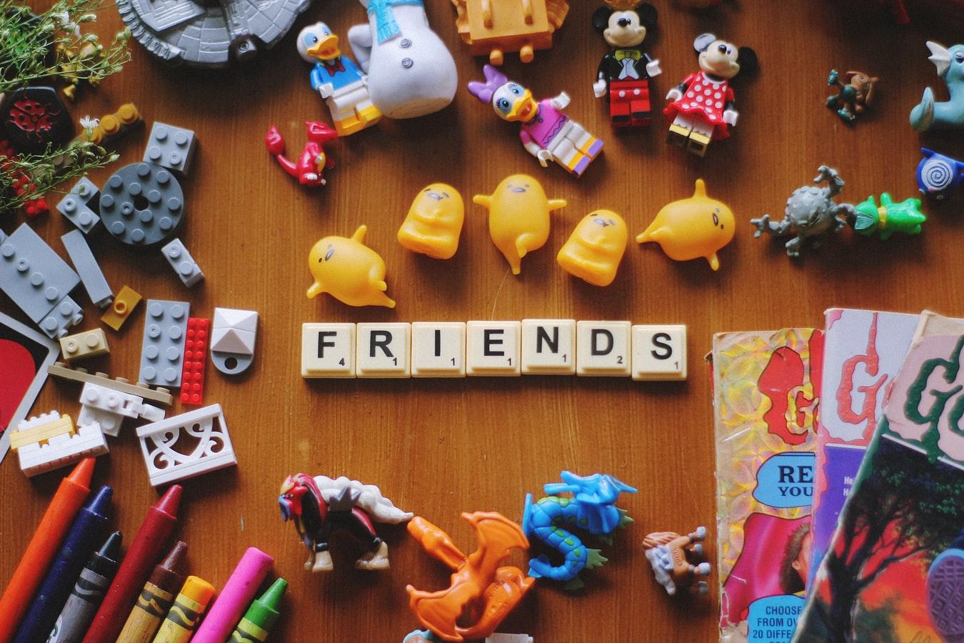 friends in scrabble tile